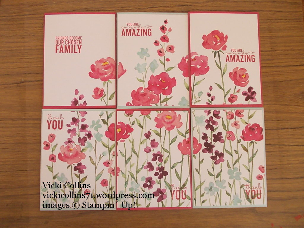 Perpetual Calendar Stamp : Stampin up painted blooms card set vicki collins