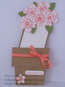 Flower Shop Pot card with tag in